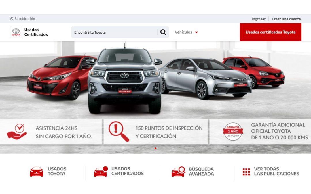 Toyota Argentina presenta un nuevo sitio web de vehículos usados