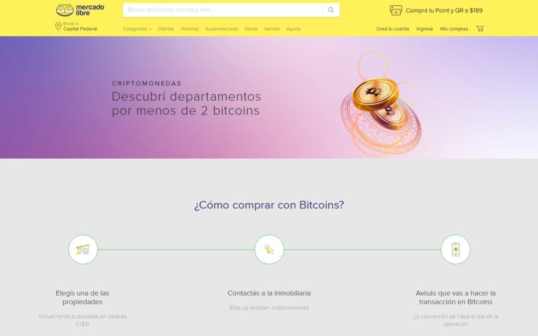 En Mercado Libre ya se puede comprar propiedades con Bitcoin