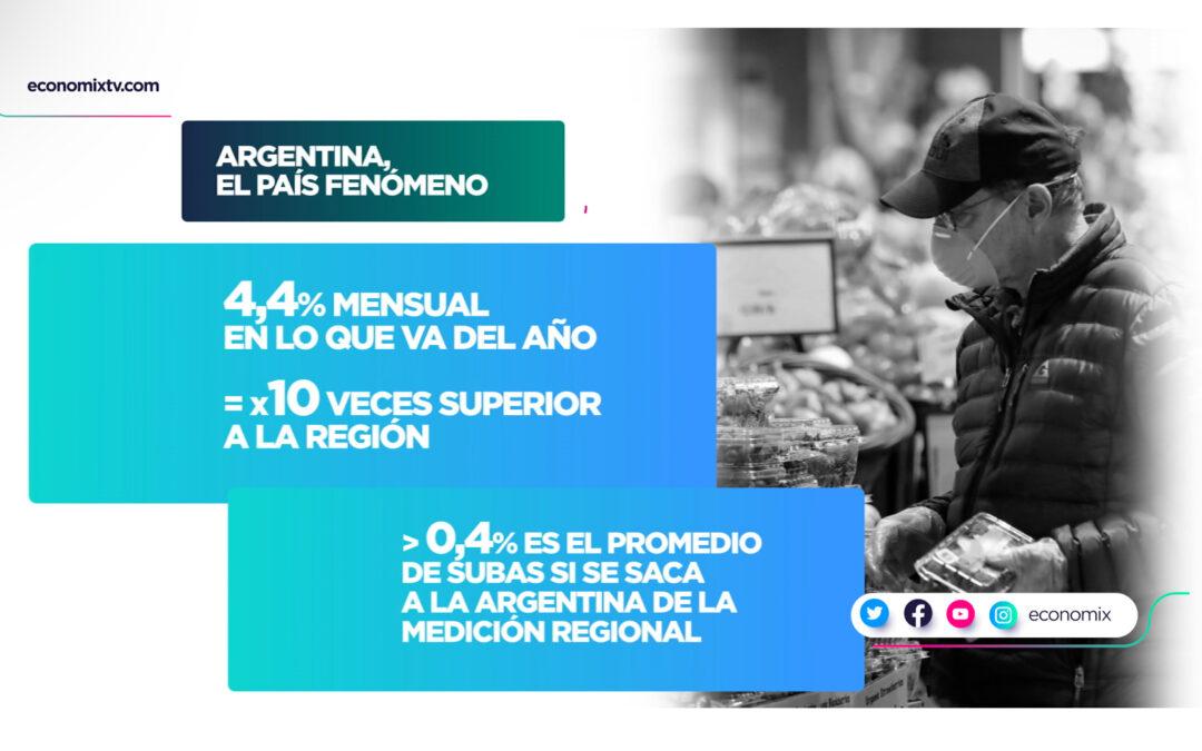 En la Argentina los alimentos subieron 10 veces más de lo que aumentaron en la región: la culpa está adentro
